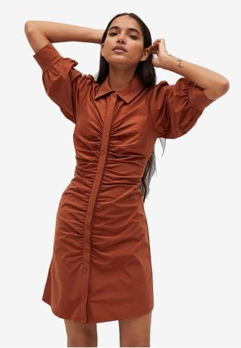 Mango orange Ruched Detail Dress 1E691AAE209B5CGS_1