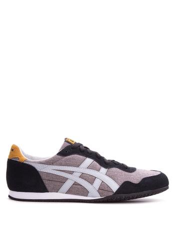 Onitsuka Tiger black and grey Serrano Sneakers ON625SH92EKXPH_1
