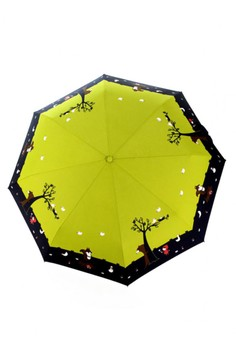 Fully Automatic Windproof Umbrella with UV Protection - Red Riding Hood Green