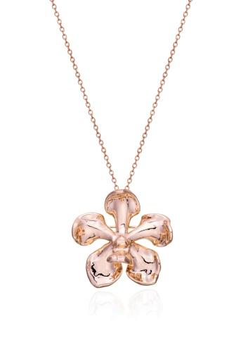RISIS pink RISIS 18K Rose Gold Plated Natural Vanda Mariae Orchid Brooch/Pendant AB840ACE156BA4GS_1
