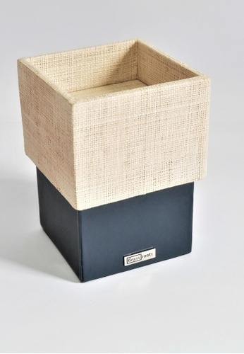 Grassroots navy Square Candle Holder (Tall) 8348AHL8B57CE3GS_1
