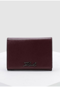 KARL LAGERFELD red Signature Fold Wallet AD761AC1AD6B2DGS 1 0bfea922cb