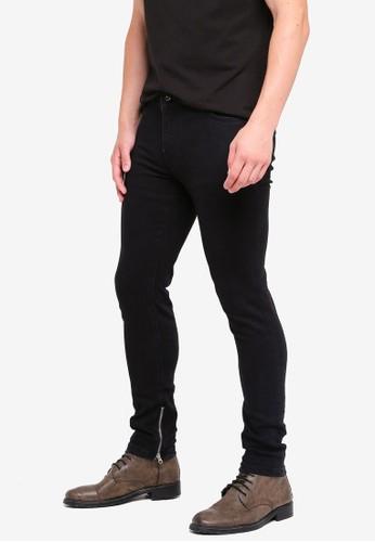 MANGO Man black Zip Hem Jeans 9395FAAE2ABAE1GS_1