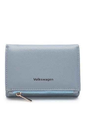 Volkswagen blue Faux Leather Short Purse 3B139AC28F1667GS_1