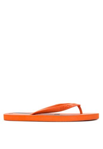 BENCH orange Printed Rubber Slippers BE550SH04MBJPH_1