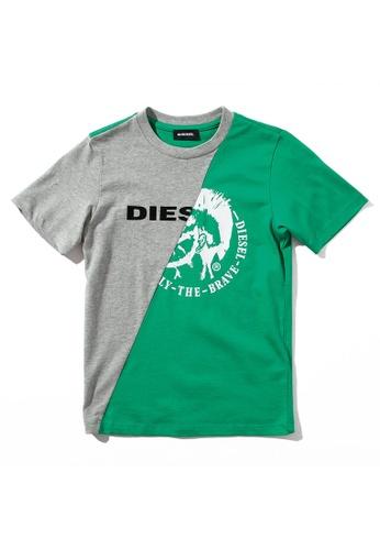 Diesel Dual Color T-shirt A6A6DKA176212AGS_1