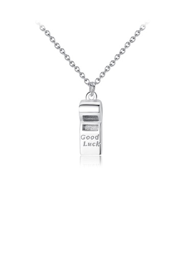 Glamorousky silver 925 Sterling Silver Simple Fashion Whistle Pendant with Necklace 12F97AC39EFFF1GS_1
