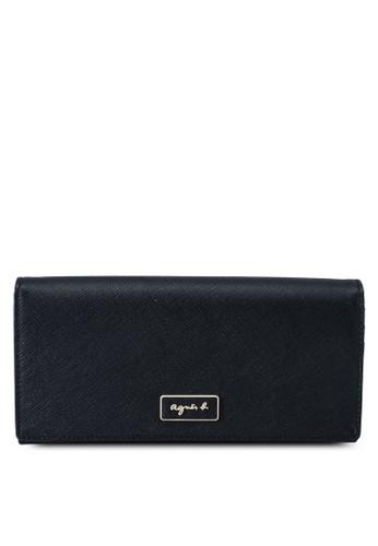 agnès b. black Long Wallet 72224AC734AF32GS_1