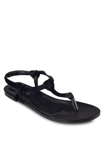 T 字帶繞esprit hk store踝涼鞋, 女鞋, 涼鞋