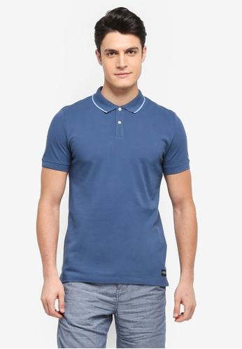 ESPRIT blue Short Sleeve Polo Shirt 7AE0AAAE807728GS_1