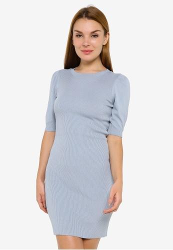 JACQUELINE DE YONG blue Kady Short Sleeve Dress 0240CAAFF541B8GS_1