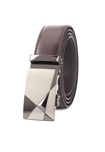 Twenty Eight Shoes brown VANSA Fashion Leather Automatic Buckle Belt  VAM-Bt027 6D22AACB43179BGS_1
