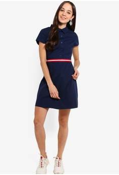 55d30a31fc Something Borrowed Stripe Trim Shirt Dress RM 105.00. Sizes XS S M L XL