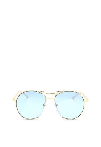 Kaca-kaca blue and gold Kaca Kaca Gene Junior Blue Sunglasses KA666AC0RISRMY_1