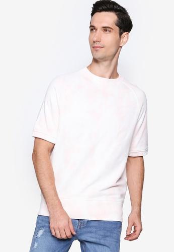 Banana Republic pink Terry Tie Dye Crew Neck T-Shirt B0767AAA86B573GS_1