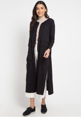 Lois Jeans black Jersey Long Cardigan 029D8AAAA342EDGS_1