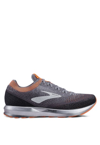 Brooks grey and multi Men's Levitate 2 Shoes B68B9SH0877FB6GS_1