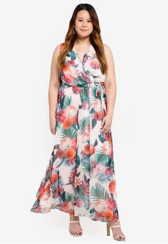 7d2bb9521e51a Dorothy Perkins pink Plus Size Blush Floral Maxi Dress A5AEBAA0EE49AFGS 1