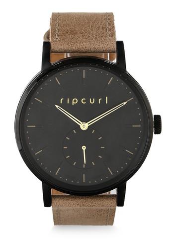 Rip Curl black Circa Midnight Leather Watch C1FFBAC92E260BGS_1