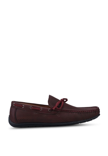 Louis Cuppers red Faux Leather Bow Loafers D7718SH2AB6743GS_1