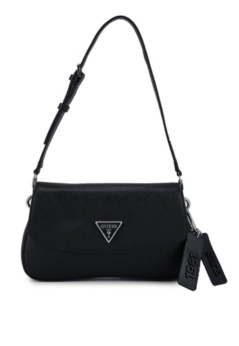 Guess black Cordelia Flap Shoulder Bag 5E56DAC7A9E2CEGS_1