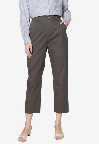 ZALIA BASICS grey Tapered Pants AAD7FAA10729B5GS_1