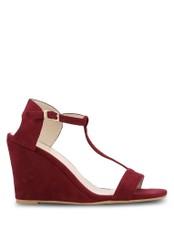 ZALORA red T-Bar Wedge Sandals DA0A7SHC0B7432GS_1