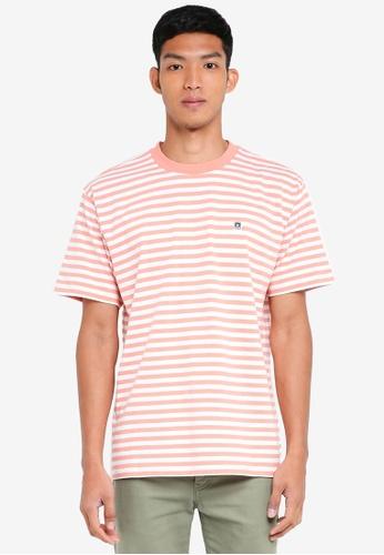 OBEY 藍色 短袖條紋T恤 50D98AAB5146ACGS_1