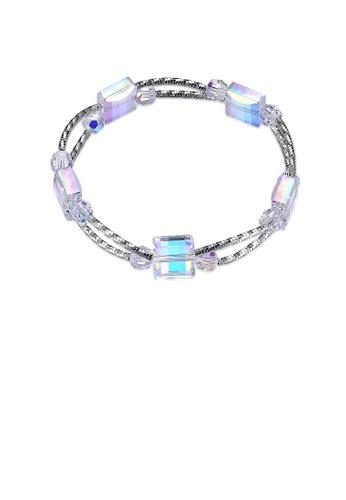 Glamorousky white 925 Sterling Silver Fashion Elegant Box Austrian Element Crystal Bracelet DB8FBAC5472108GS_1