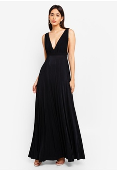529f511f719c8 72% OFF Goddiva Pleated Oscar Dress In The Style Of Lupita Nyongo RM 369.00  NOW RM 104.00 Sizes S M