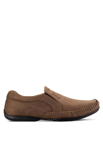 Louis Cuppers brown Casual Slip Ons LO977SH61AVYMY_1