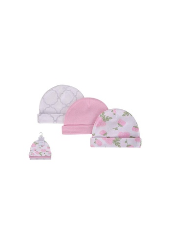 Little Kooma pink Baby Hats 3 Piece Pack 0-6 months 52307CH - 0805 27B8EKCF2BCBD4GS_1