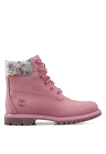 Timberland pink 6 Inch Premium Waterproof Boots 32A96SHE5EE966GS_1