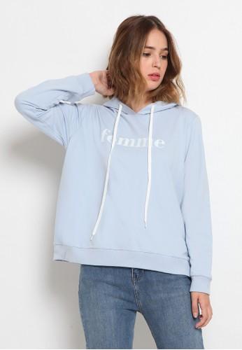 The Executive blue Long Sleeve Hoodies Sweatshirt 894CDAA409B322GS_1