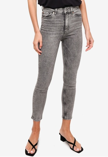 H&M grey Skinny High Jeans 61B01AA8CD2669GS_1