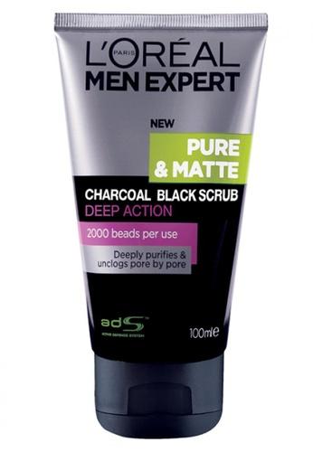 L'Oréal Paris L'Oreal Men Expert Pure & Matte Charcoal Black Scrub 100ml DCC80BEF673975GS_1