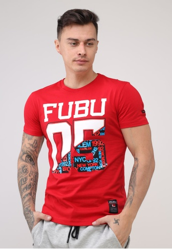 Fubu Boys red Round Neck Muscle Fit T-Shirt C8089AA4386B62GS_1