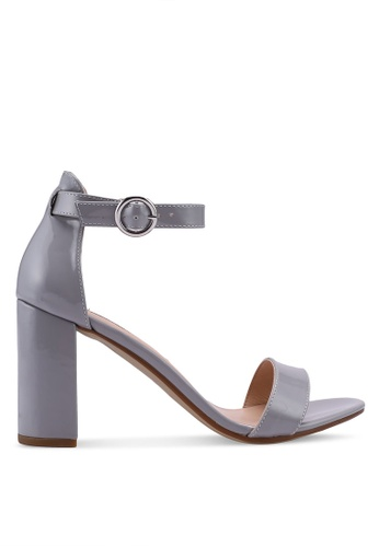 Dorothy Perkins 灰色 Grey Shimmy Heeled Sandals 47925SH9E56684GS_1