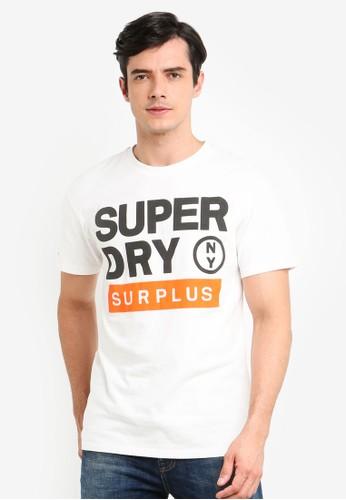 Superdry white Surplus Goods Oversize Short Sleeve Tee C6270AAE0DAA1BGS_1