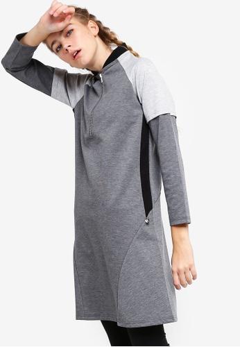 AVIVA grey Performance Long Sleeve Top 57342AA7E79AC0GS_1