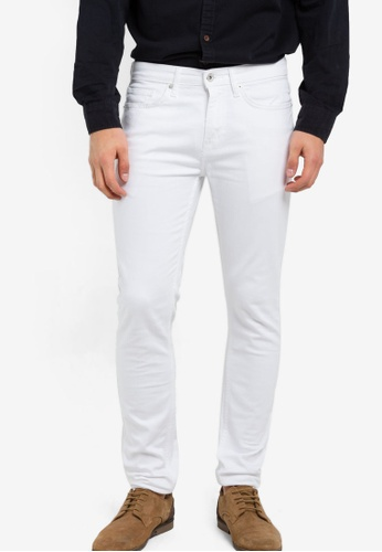Topman 白色 White Stretch Skinny Jeans TO413AA64PDVMY_1