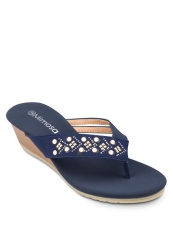 閃飾人字帶esprit高雄門市楔形涼鞋, 女鞋, 楔形涼鞋