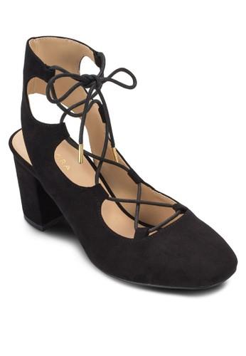 繫帶高筒繞踝粗跟鞋、 女鞋、 鞋ZALORA繫帶高筒繞踝粗跟鞋最新折價