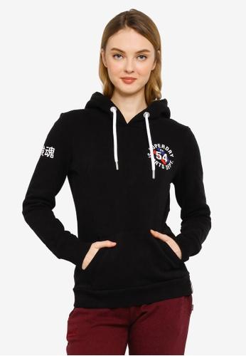 Superdry black Vintage Sport Hoodie B689AAA7680869GS_1