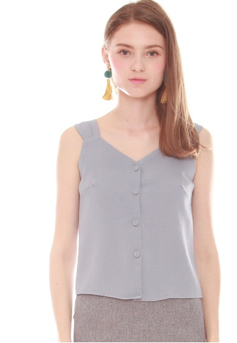 ead3a21e267 Buy JOVET Sleeveless Button Front Top Online on ZALORA Singapore