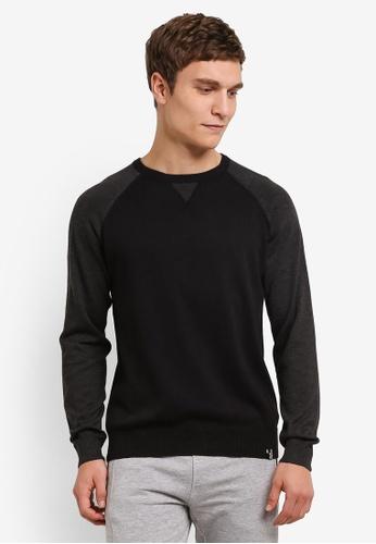 Indicode Jeans black Hayden Color Block Raglan Sweater IN815AA0ROLSMY_1