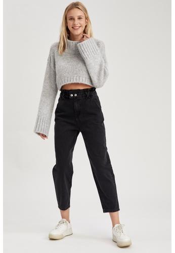 DeFacto grey High Waist Paperbag Jeans 862A4AA1F583D6GS_1