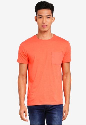 ESPRIT 橘色 短袖T恤 6664BAA7658EC7GS_1