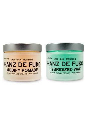 Hanz de Fuko Hanz de Fuko Hybridized Wax and Modify Pomade Set HA369BE41NEWSG_1
