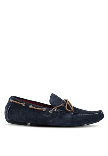 River Island navy Suede Boat Shoes 0290FSHA506AF8GS_1